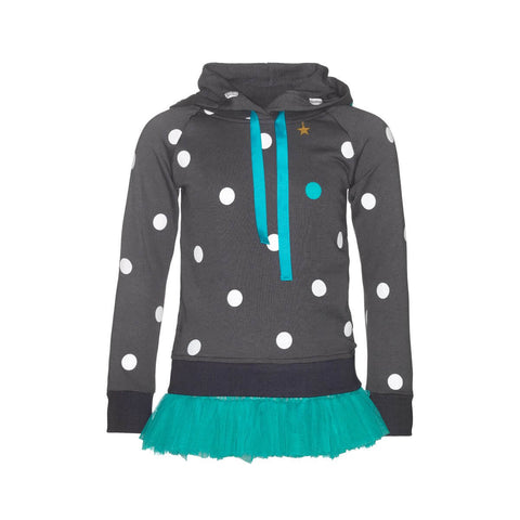 Hooded Dots Dress