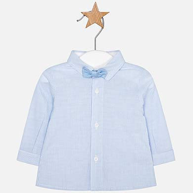 L/S Shirt with Bowtie Sky