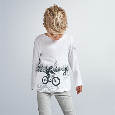 Snow Bike Race T-shirt: Off White