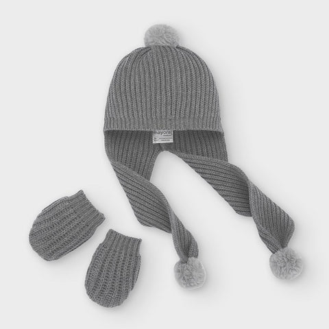 Graphite Hat and gloves set