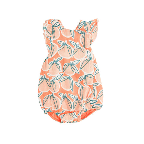 Peachy Sunsuit Canteloupe