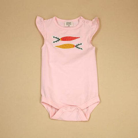 RS Bodysuit with Applique - Blush Carrot