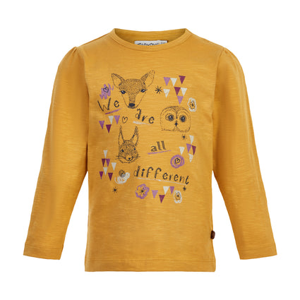 Amber Gold L/S Printed Top