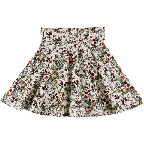 Winter flower skirt: Buttercream
