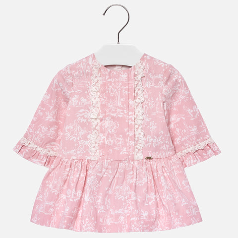Blush L/S Printed Dress