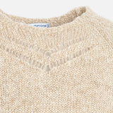 Beige Knit Gloss Sweater
