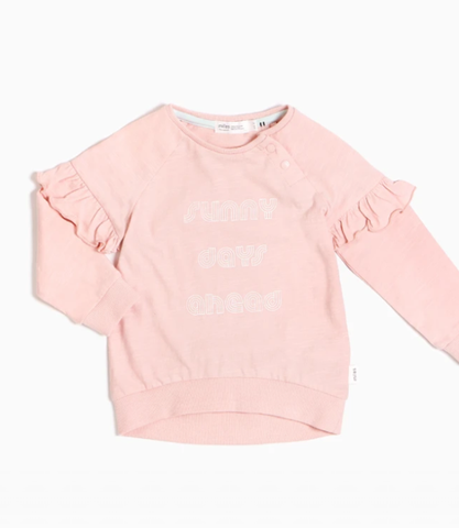 Light Pink ''Sunny Days Ahead'' Crewneck Sweatshirt