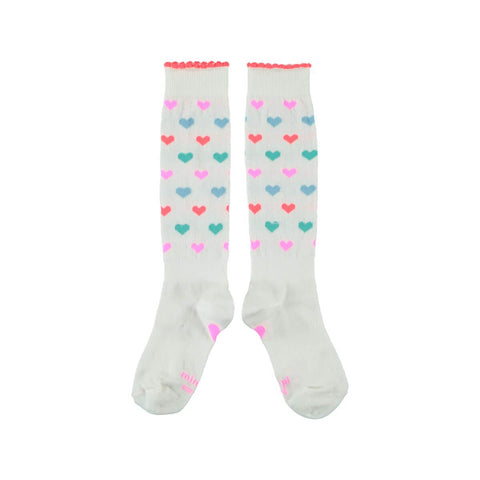 Mimpi Heart Print Knee Highs