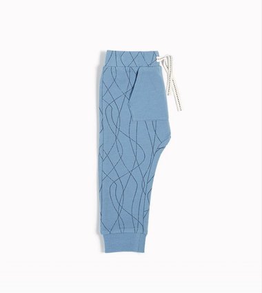 "Dusty Blue ""Ski Tracks"" Jogger"