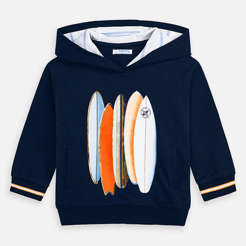 Navy Serigraphy pullover