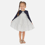 White-Navy Swiss dot dress