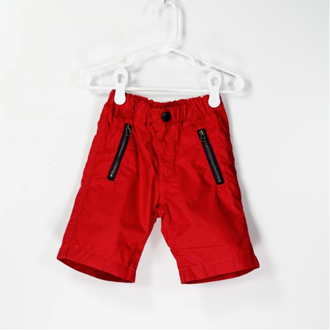 Cotton Typewriter Cloth Shorts Red