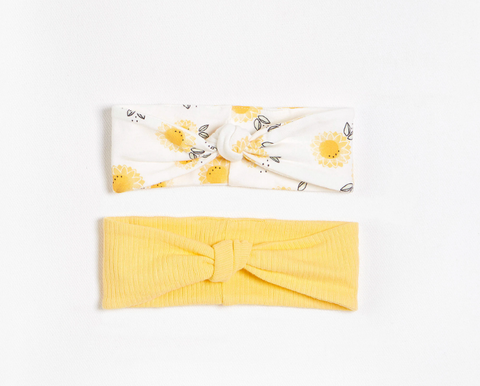 FIRSTS Sunflowers Headbands with Organic Cotton