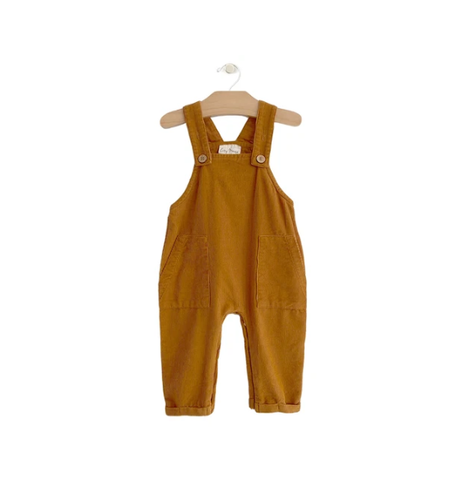 Fine Wale Cord Overall: Amber