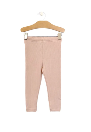Big Rib Legging: Soft Rose