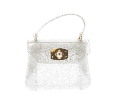 Silver Glitter Jelly Purse