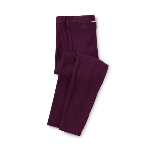 Pointelle Leggings: Elderberry