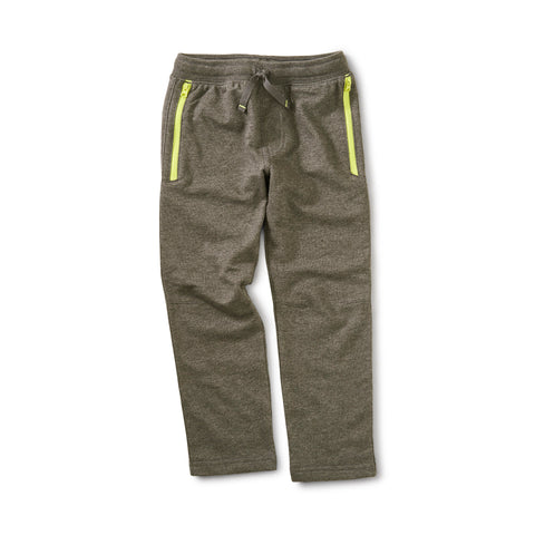 Zip Pocket Joggers: CHARCOAL GREY HTHR