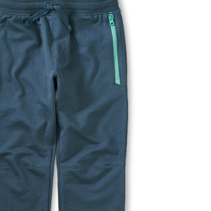 Zip Pocket Joggers: Copen Blue