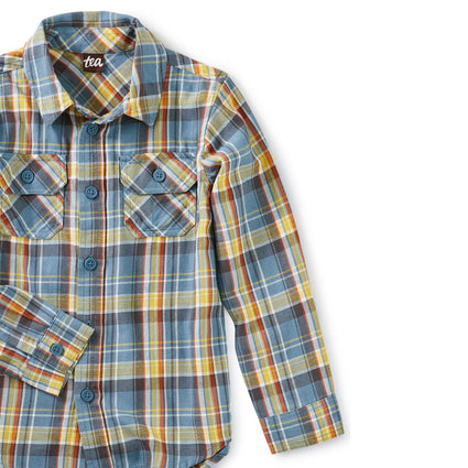 Plaid Button Up: Huascaran Plaid