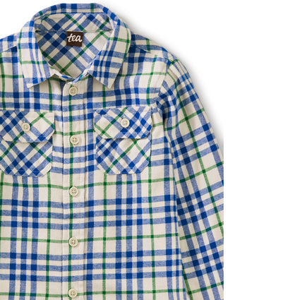 Flannel Button Up: Alpamayo Plaid