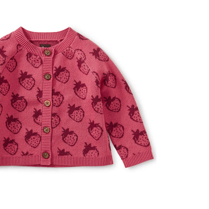 Icon Baby Cardigan: Fresh Fresas
