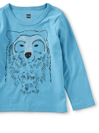 Bear All Graphic Tee: Bondi Blue