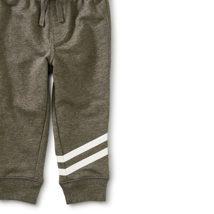Speedy Striped Baby Joggers: CHARCOAL GREY HTHR