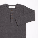 FIRSTS Dark Grey Henley Top