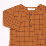 FIRSTS Autumn Brown Woven Flannel Pant Set (2pcs.)