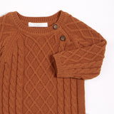 FIRSTS Autumn Brown Knit Sweater