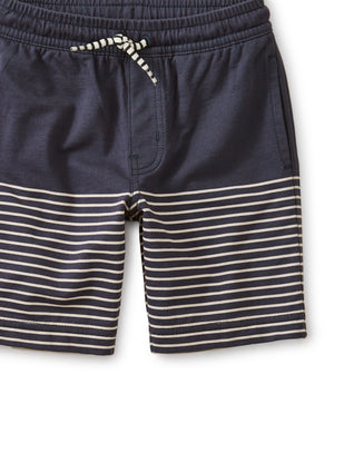 Knit Beach Shorts: Indigo