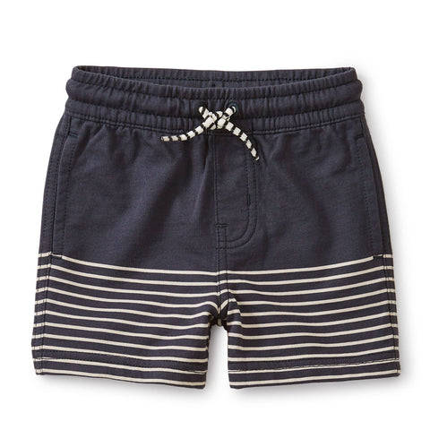 Knit Beach Baby Shorts: Indigo