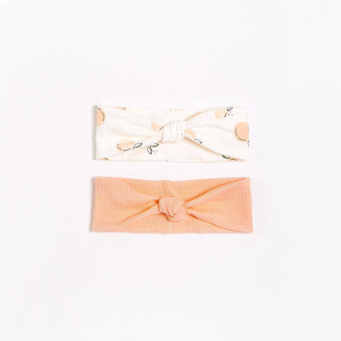 FIRSTS Peaches Headbands with Organic Cotton