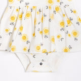 FIRSTS Sunflowers Peplum Dress with Organic Cotton