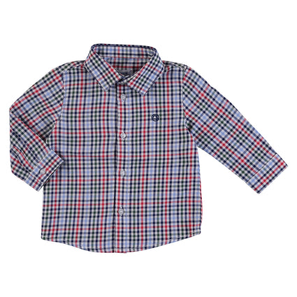 L/s Red check shirt