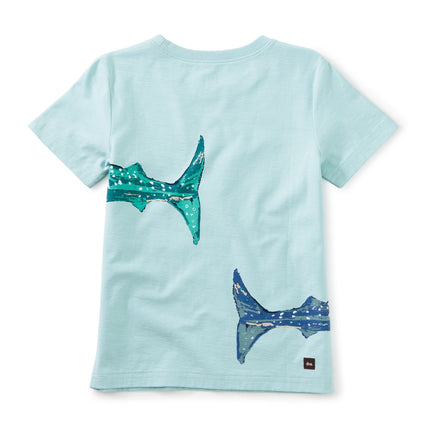 Whale Shark Graphic Tee: Canal Blue