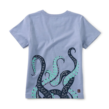 Awesome Octo Double-Sided Tee: SEAL GREY