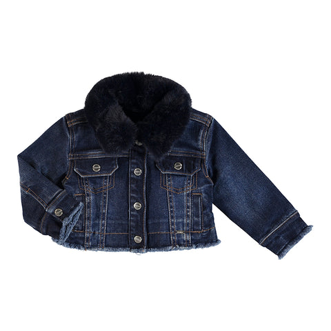 Jean jacket:Dark with Fur
