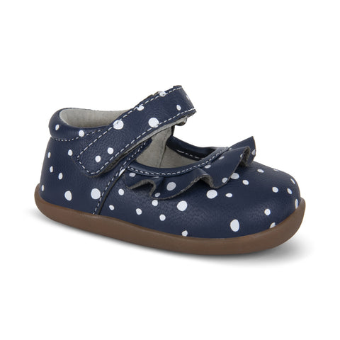 Belle II (First Walker) Navy Snowflakes