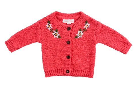 Hand Embroidered Flower Cardigan