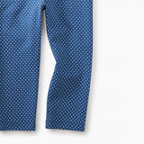 Pin Dot Capri Leggings- COBALT