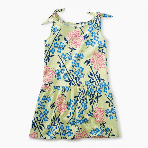 Tie Shoulder Dress- Chrysanthemum Blossoms