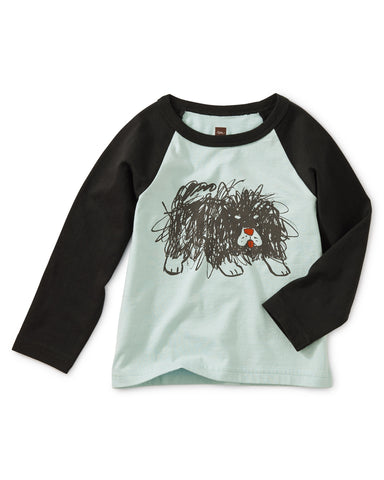 Scribble Dog Grphc Raglan Tee - Skylight