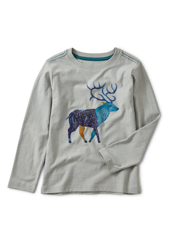Stag Graphic Tee: Stratus
