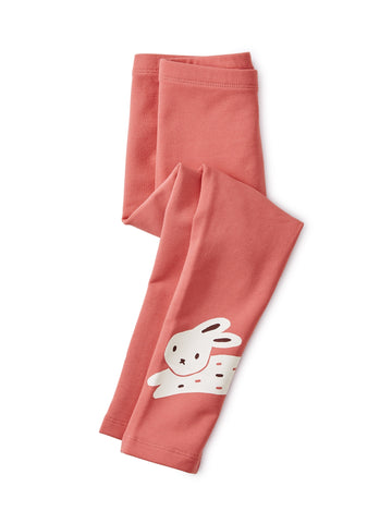 Bunny Rabbit Cozy Leggings: Dry Rose