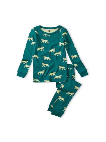 Barbary Lion Printed Pajamas
