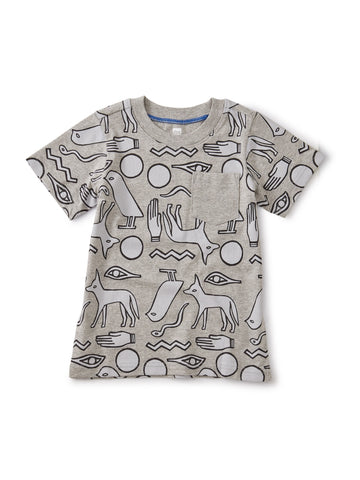 Hieroglyphics: Tee w/Rib Pocket