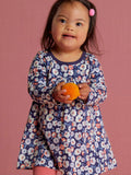 Pleated Baby Dress: Marigold Flowers