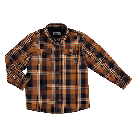 Cheddar Plaid twill undershirt